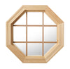 Cabin Light Octagon Window Clear IG Pine Grille