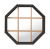 Rambler Bronze Poly Stationary Octagon Window Clear IG Glass With Pine Removable Grille