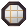 Town Light Bronze Poly Brickmould Stationary Octagon Window Clear IG Glass 9 Light Pine Removable Grille