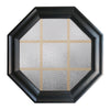 Town Light Black Poly Brickmould Stationary Octagon Window Obscure IG Glass 9 Light Pine Removable Grille