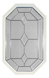 20 x 34 Dominican Natural Poly White Stationary Octagon Window
