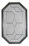20 x 34 Dominican Natural Poly Bronze Stationary Octagon Window