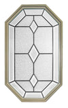20 x 34 Dominican Patina Poly Sand Stationary Octagon Window