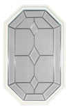 20 x 34 Dominican Natural Primed Poly Stationary Octagon Window