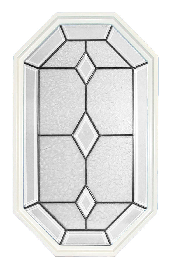 20 x 34 Dominican Patina Primed Poly Stationary Octagon Window