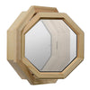 Star Light Decorative Lead Tape Wood Venting Octagon Window Hinged Left Clear IG Glass Open