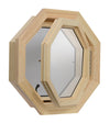 Cabin Breeze Wood Vent Octagon Clear IG Right Hinge Open