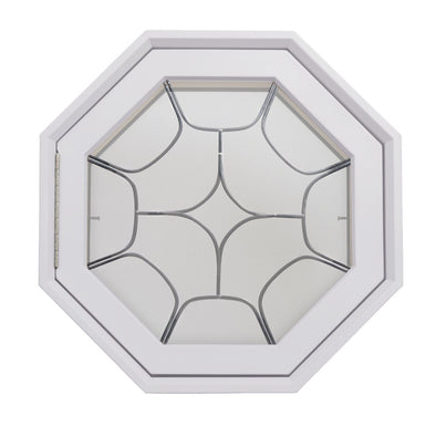 Star Light Poly White Venting Octagon Window Clear IG Hinged Left
