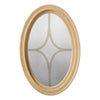 Brickmould Profile Oval Window Obscure IG Glass 5 Light Diamond Grille