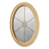 Brickmould Profile Oval Window Obscure IG Glass 6 Light Spoked Grille