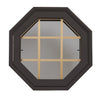 Rambler Breeze Bronze Poly Venting Octagon Clear IG Glass Pine Removable Grille Hinged Left