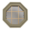 Rambler Breeze Sand Poly Venting Octagon Clear IG Glass Pine Removable Grille Hinged Left