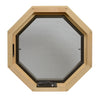 Cabin Breeze Wood Vent Octagon Clear IG Interior View