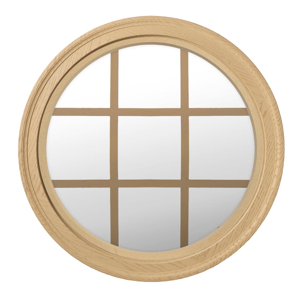Brickmould Profile Round Window Clear IG Glass 9 Light Colonial Grille