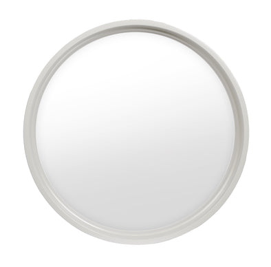 Rambler White Poly Round Window Clear Insulated Glass
