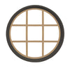 Rambler Bronze Round Poly Window with 9 Light Colonial Poly Grille