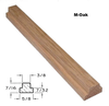 M-Oak Bar Profile with Dimensions