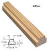 M-Pine Bar Profile with Dimensions