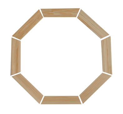 "2-1/4"" Colonial Pine Trim Kit for 20 x 20 poly venting octagon window"