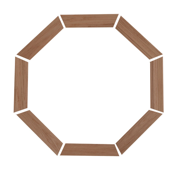 "2-1/4"" Colonial Oak Trim Kit for 20 x 20 wood stationary octagon window"
