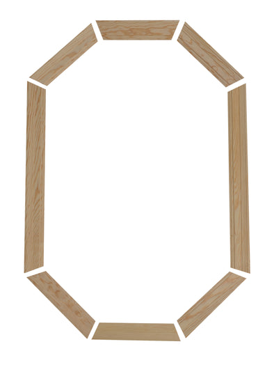 "2-1/4"" Colonial Pine Trim Kit for 20 x 34 poly stationary octagon window"