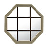 Rambler Sand Poly Stationary Octagon Window Clear IG Glass With Bronze Grille In Glass