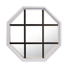 Rambler White Poly Stationary Octagon Window Clear IG Glass With Bronze Grille In Glass