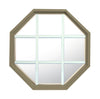 Rambler Sand Poly Stationary Octagon Window Clear IG Glass With White Grille In Glass