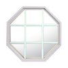 Rambler White Poly Stationary Octagon Window Clear IG Glass With White Grille In Glass