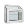 White Garden Window Awning Sash Closed