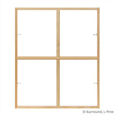 4 light square colonial window grid insert