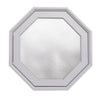 Rambler Breeze White Poly Venting Octagon Window Obscure IG Glass Hinge Left