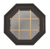 Rambler Breeze Bronze Poly Venting Octagon Clear IG Glass Pine Removable Grille Hinged Right