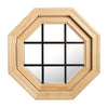 Cabin Breeze Wood Vent Octagon Clear IG Bronze Internal Grille Left Hinge