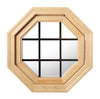 Cabin Breeze Wood Vent Octagon Clear IG Bronze Internal Grille Right Hinge