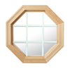 Cabin Light Octagon Window Clear IG White Internal Grille