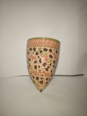 Hand Crafted Wall Mounted Vase with Intricate Designs