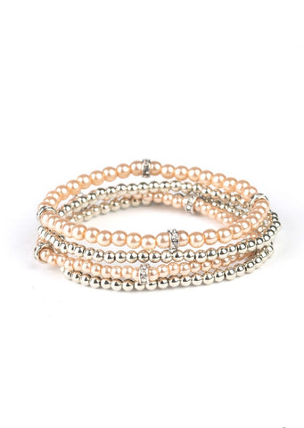 Paparazzi Accessories Fiercely Frosted Brown Bracelet