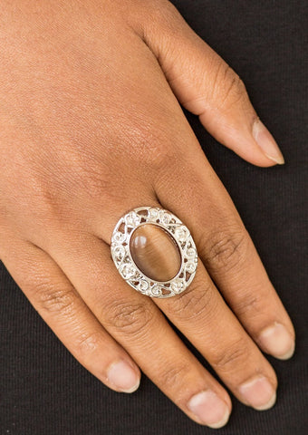 Paparazzi Accessories Moonlit Marigold Brown Ring