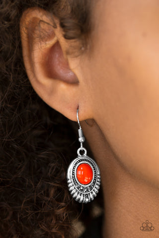 Look HUEs Talking Red Bead Hematite Rhinestone Earrings
