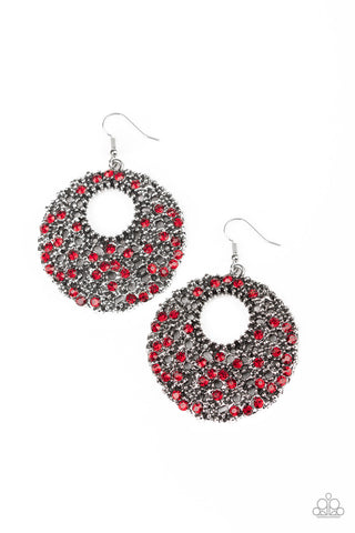 Paparazzi Accessories Starry Showcase Red Earrings