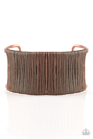 Paparazzi Accessories Metal Mecca Copper Bracelet