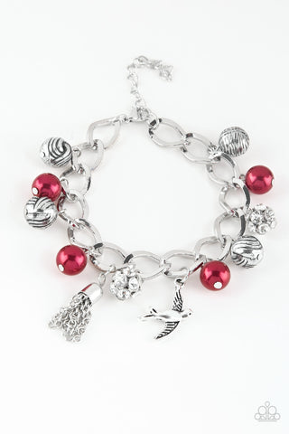 Paparazzi Accessories Lady Love Dove Red Bracelet