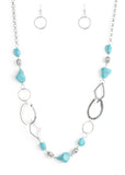 Paparazzi Accessories Thats TERRA-ific! Blue Necklace Set