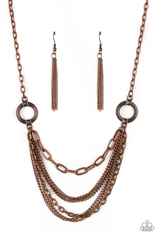 Paparazzi Accessories CHAINS of Command Copper Necklace Set