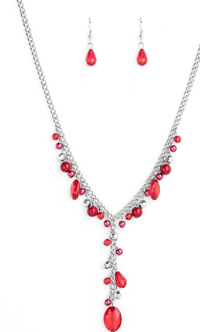 Paparazzi Accessories Crystal Couture Red Necklace Set