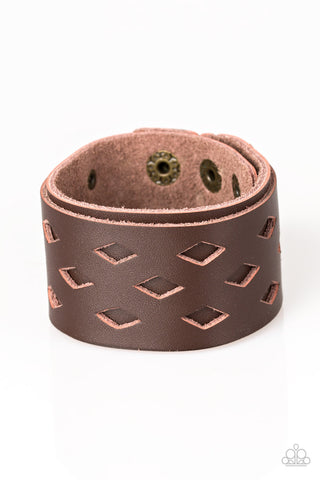 Paparazzi Accessories Bucking Bronco Brown Bracelet