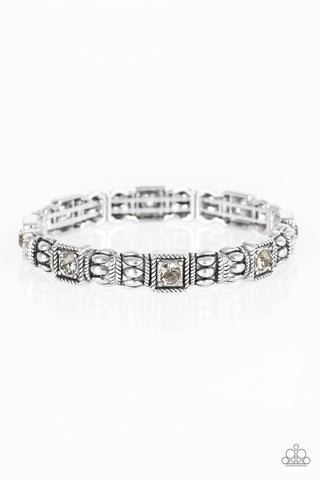 Paparazzi Accessories Metro Marvelous Silver Bracelet