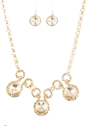 Paparazzi Accessories Gold Hypnotized Necklace Set