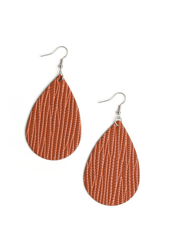 Paparazzi Accessories Natural Resource Brown Earrings